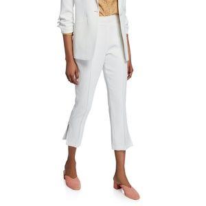 Cinq a Sept Atticus Piped Hem Pants White Size 0